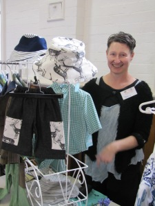 Market Coordinator Patricia Eaves-O'Brien with her children's clothing range.