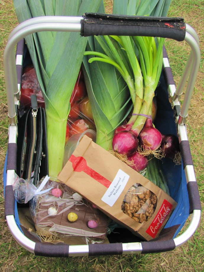 My very delicious basket of goodies from Bream Creek Market