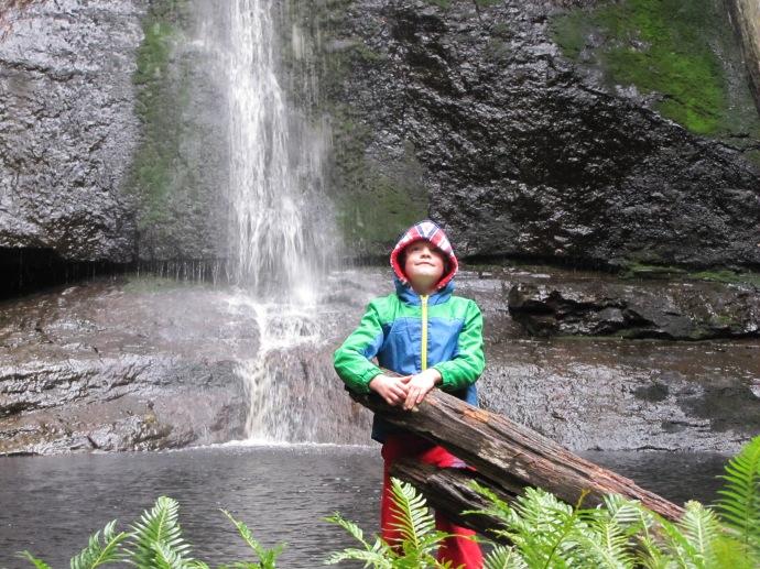 Finn at the falls