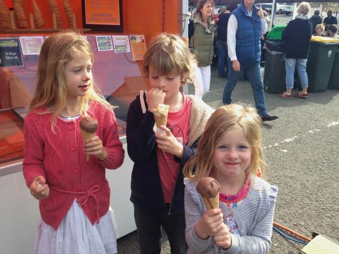 First distraction. Organic Ice-cream